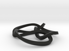 6-3 mobius knot small in Black Strong & Flexible