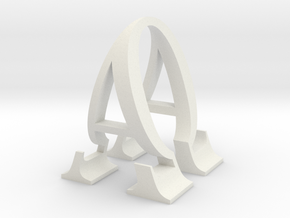 Alpha and Omega  in White Natural Versatile Plastic