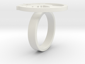 Lucy Ring in White Natural Versatile Plastic