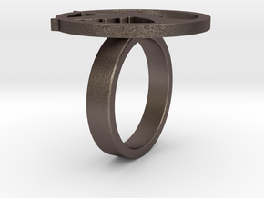 Lucy Ring in Polished Bronzed Silver Steel