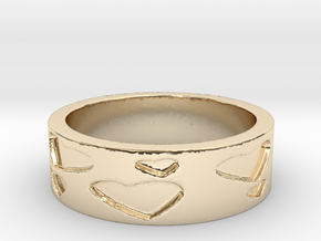 Hearts (Size 5.5) in 14K Yellow Gold