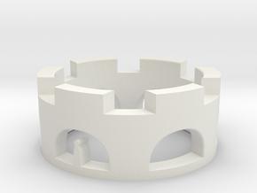 Stella Ring in White Natural Versatile Plastic