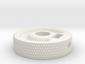 MIJ JM/Jag Roller knob - Diamond pattern in White Natural Versatile Plastic