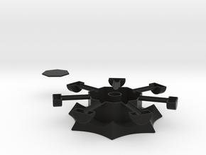 Heptagonal domino center misc. (print 2) in Black Strong & Flexible