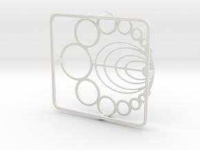 Burner Grate in White Natural Versatile Plastic