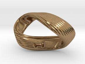 Mobius 1-Sided Die Version 2 in Natural Brass