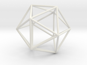 Icosahedron in Polished Nickel Steel
