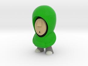 Green Hoodie 7cm in Full Color Sandstone