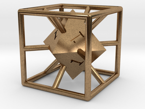 Average D6 Cage Dice in Natural Brass