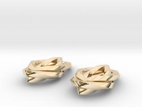 Leaf earrings in 14K Yellow Gold