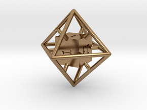 Average D8 Cage Dice in Natural Brass