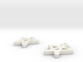 draw-earrings-5.stl in White Strong & Flexible