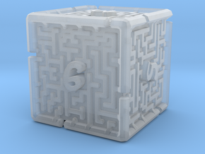 6 Sided Maze Die V2 in Smooth Fine Detail Plastic