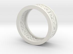 Heart Celtic Knot Ring size 7 in White Natural Versatile Plastic