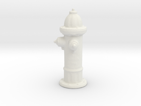 Hydrant in White Natural Versatile Plastic