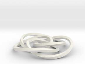 small cycloid knot in White Natural Versatile Plastic