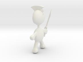 Spartan pendant charm in White Natural Versatile Plastic