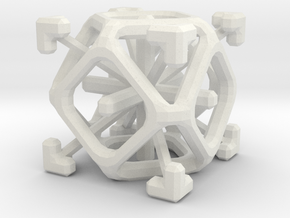 Complex 2-7 cube in White Natural Versatile Plastic
