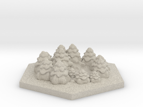 Catan_forest_hexagon in Sandstone
