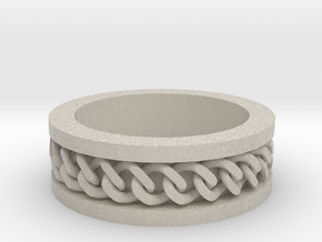 Flat Chain Ring in Natural Sandstone