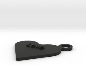 Love Keyfob in Black Strong & Flexible