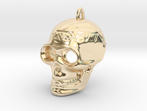 Pendant Skull (with pendant ring) in 14K Yellow Gold