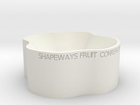 Fruit Bowl in White Natural Versatile Plastic