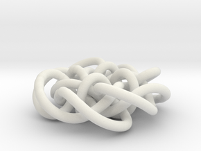 Prime Knot d4.122 in White Natural Versatile Plastic