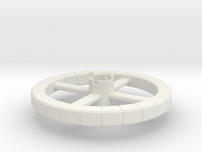 B.Y.O.S.S. Ring Square in White Natural Versatile Plastic