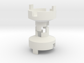 B.Y.O.S.S. Large to Small Joint Square in White Natural Versatile Plastic