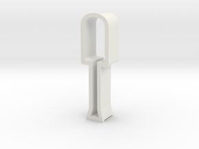 Screwdriver shaped cookie cutter in White Natural Versatile Plastic