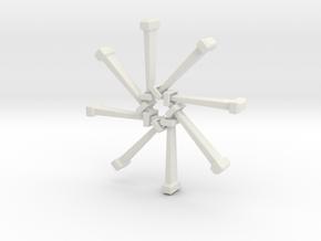 Nail Bracelet v2 in White Natural Versatile Plastic