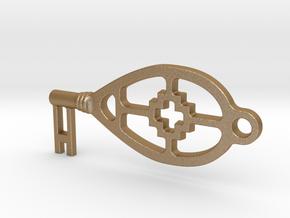 sleutel in Matte Gold Steel