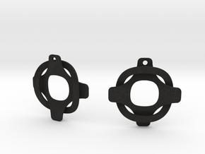 Earrings 2 entwined in Black Acrylic