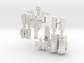 """Dustup"" Gunslinger figure  in White Natural Versatile Plastic"