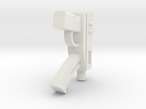 Machine Pistol in White Natural Versatile Plastic