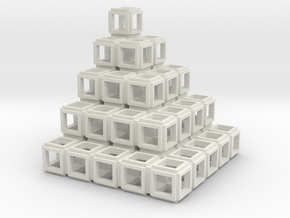 021: Square Tower hollowed out in White Strong & Flexible