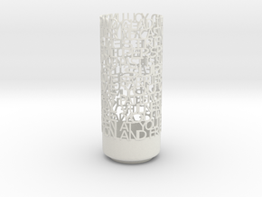 Light Poem 3 in White Natural Versatile Plastic