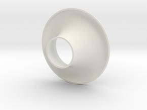 Cornet40_fullradius in White Natural Versatile Plastic