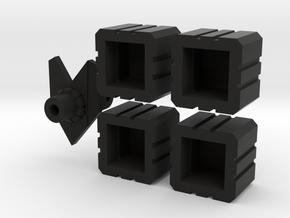 Combiner sockets plus bonus piece in Black Strong & Flexible