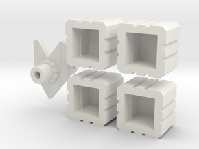 Combiner sockets plus bonus piece in White Natural Versatile Plastic