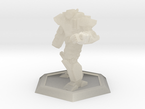 Mecha- Odyssey- Achilles Pose 2 (1/500th) in White Acrylic