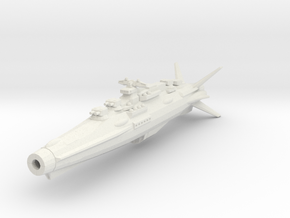 Earth Defence Fleet Cruiser Horatius Class in White Natural Versatile Plastic