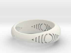anel detalhe olho in White Natural Versatile Plastic