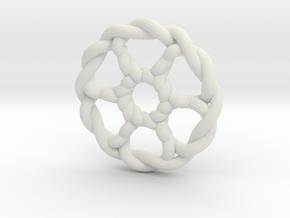 Celtic Knots 07 (small) in White Natural Versatile Plastic