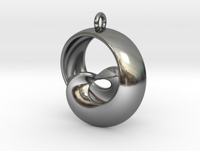 Half Mob-Tor: the half Mobius Torus Shell in Polished Silver