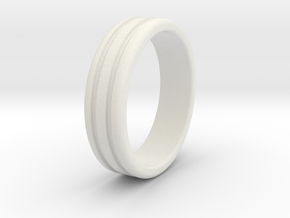 Thumb Ring-21mm in White Natural Versatile Plastic