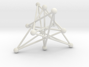 004: Petersen graph in White Natural Versatile Plastic