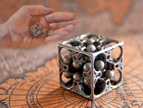 GOD's DICE in Polished Bronzed Silver Steel