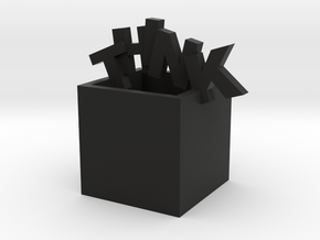 Think Outside the Box Sculpture in Black Strong & Flexible